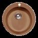 """Цены на GranFest GF - R480 Материал  -  Искусственный мрамор,   Форма  -  Круглая,   Ширина шкафа  -  40,   Диаметр сливного отверстия  -  3 1\ 2"""",   Глубина мойки  -  47,   Комплектация  -  Герметик,   сливная арматура с нержавеющим клапаном,   Цвет  -  Коричневый,   Количество основных чаш  -  1"""