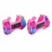 Цены на Moby Kids Ролики Moby Kids 2 - х колесные свет розовые 635281 Двухколесные ролики Moby Kids надеваются поверх обуви и крепятся к ней с помощью ремешка. Во время катания колеса роликов подсвечиваются.