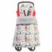 Цены на Mammie Одеяло  -  накидка на ноги в коляску Mammie Зверята на сером 18 - 51650 Двухстороннее одеяло Mammie с кнопочным креплением на бампере коляски. Изготовлен из теплого уютного меха вельбоа с одной стороны,   и из плащевой ткани с другой стороны. Наполнитель