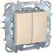 Цены на Выключатель двухклавишный Schneider Electric UNICA бежевый MGU5.211.25ZD