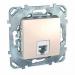 Цены на Телефонная розетка 4 контакта Schneider Electric UNICA бежевая MGU5.492.25ZD