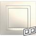 Цены на Рамка 2 поста с декоративным элементом Schneider Electric UNICA бежевая MGU2.004.25