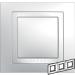 Цены на Рамка 3 поста с декоративным элементом Schneider Electric UNICA белая MGU2.006.18