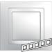 Цены на Рамка 5 поста с декоративным элементом Schneider Electric UNICA белая MGU2.010.18