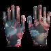Цены на Перчатки нейлон.садовые,  облитые прозрачным нитрилом,  мультицвет р.8 (3008)