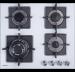 Цены на Graude Газовая варочная панель Graude GS 60.3 W Управление с помощью поворотных переключателей Белое закаленное стекло Оригинальные конфорки SABAF Чугунные решетки Исполнение: без рамки Ширина: 600 мм