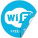 """Цены на Двухсторонняя наклейка """"Бесплатный Wi - Fi"""" Наклейка 100 мм (Wi - Fi двухсторонняя) Информирует о наличии бесплатного беспроводного доступа к сети интернет;  С одной из сторон нанесен клеевой слой позволяющий наклеить наклейку на стекло;  Габаритные размеры: 10"""