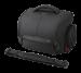 Цены на Sony LCS - SC8 LCSSC8B.SYH  -  Мягкий чехол защищает камеру,   объективы и аксессуары во время путешествий  -  Отстегнув застежку,   чехол можно широко раскрыть,   получив удобный доступ к находящимся в нем компонентам  -  В чехол входит корпус камеры с установленным о