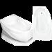 Цены на Bach Акриловая ванна Bach Стар 169*100 13334 - 01 280970   Асимметричная акриловая ванна Bach Стар 169*100 см для ванной комнаты. Ванна для стандартной ванны комнаты. Особенности ванны Bach: Асимметричная ванна Белоснежный акрил с повышенной гигие