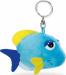 """Цены на Nici Брелок Nici """"Голубая рыбка"""" (37191) Маленькая забавная рыбка очень любит путешествовать,   ей нравится узнавать и разглядывать новое. На лице у нее всегда спокойная улыбка,   а веки слегка опущены. Сама рыбка голубого цвета,   но у нее желтые плавнички и т"""