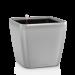 Цены на Кашпо Квадро 35 LS Серебристый металлик с системой автополива LECHUZA
