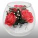Цены на Цветы в стекле: Композиция из натуральных роз (розовые) 9 х 10 см Стекло ,  натуральные цветы