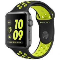 Фото Apple Watch Nike+ 42mm Space Gray Aluminum Case with Black/Volt Nike Sport Band (MP0A2)