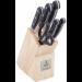 Цены на TalleR TR - 2009 В комплекте  -  Подставка,   Тип  -  Набор ножей,   Вес  -  2148,   Назначение ножа  -  Шеф(Поварской нож),   Материал рукояти  -  Пластик,   Материал лезвия  -  Нержавеющая сталь,   Длина лезвия  -  9,   12.5,   15,   20,   20,   Цвет  -  Черный