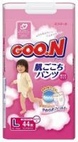 Goo.N Подгузники-трусики для девочек L 9-14 кг (44 шт.)