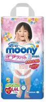 Moony Подгузники-трусики для девочек L 9-14 кг (44 шт.)