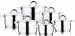 Цены на Набор посуды Wellberg (Велберг) Turbo Cook WB - 1397. Артикул 1397WB СЕРИЯ TURBO COOK Набор посуды 12 предметов (материал: нержавеющая сталь,   стекло,   кастрюля с крышкой ?16см 1.8л,   ?18см 2.6л,   ?18см 2.6л,   ?20см 3.5л,   ?20см 3.5л,   ?24см 6.0л,   мерная шкала,   ме