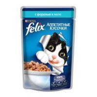 Felix Аппетитные кусочки с форелью в желе 85 г