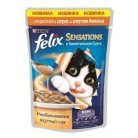 Felix Sensations с индейкой в соусе со вкусом бекона 85 г