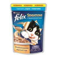 Felix Sensations с треской в соусе с томатами 85 г