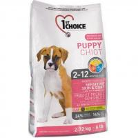 1st CHOICE Puppies All Breeds - Sensitive skin & coat 2,72 кг