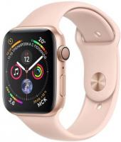 Фото Apple Watch Series 4 40mm GPS Gold Aluminum Case with Pink Sand Sport Band (MU682)