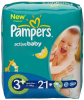 Pampers Active Baby Midi Plus 3+ (21 ��.)